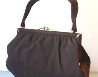 Vintage Tarkor Brown Suede Handbag