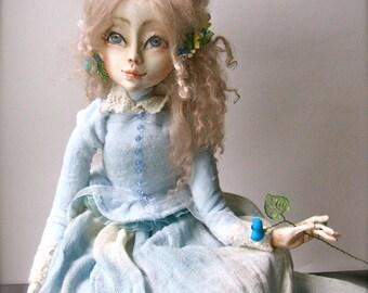 Art doll Veronica -Art doll -  Art dolls -OOAK doll -   Paperclay  doll - Handmade doll -  Collecting doll
