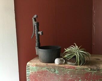 Vintage Cast- Iron Pitcher Pump Planter
