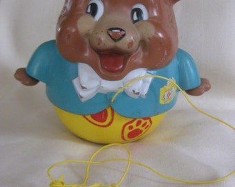 Vintage 1969 Fisher Price Rolly Polly Bear