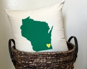 State Pillow - Any state / Home Decor, Wedding, Ring-bearer, Gift, Holiday, Gift for him, Gift for her, Valentines Day