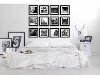 Gallery Wall Set, Paris Decor, Black and White Paris Photography Prints, Romantic Decor, Paris Prints, Gallery Wall Prints, Film Photography