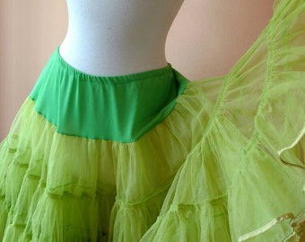 Gorgeous Green Crinoline with Gold Trim