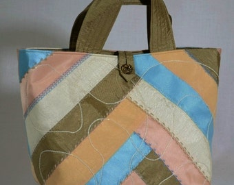 Boho Multi Colored Crazy Quilt Evening Handbag