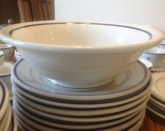 "US Navy 10"" Serving Bowl, RARE, WWII, Fouled Anchor from Wardroom Officer's Mess, Shenango China"