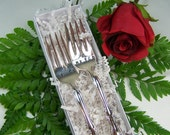 Wedding Cake Forks, IDO METOO, Wedding Forks Personalized, Vintage Silver Plated, Interlude by Int'l, 1971, Ready to Ship Gift, Under 25