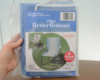 Phifer Better Bottom Aluminum Patio Chair Replacement Cover - Blue