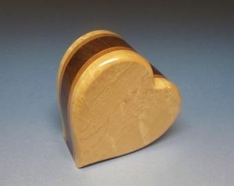 Birds-eye Maple, Walnut and Mahogany Woods Pet Urn, Cremation Urn, Cremation Urn, Unique Urn, Small Urn, Wood Urn, Heart Urn, Wooden Urn