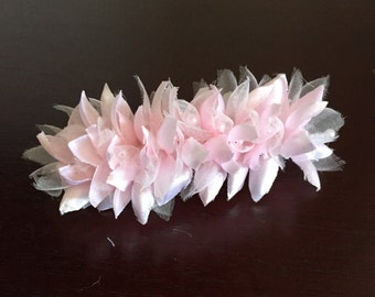 Flower Girl Hair clip in pale pink, light pink, blush pink, baby pink