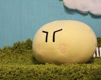Dango Plush, Angry Blushing Dango Pillow, Clannad Dango, Mochi Plush, Clannad Cosplay - Hand-made - size Medium