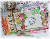 OOAK Fauxdori, Cat Fauxdori, Fabric Collage Midori, Traveler's Notebook, Free Insert!