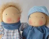Reservation for Teresa, Waldorf doll twins 30 cm / 12 inch