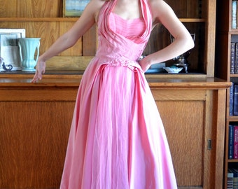 Pink 50's Evening Gown / Fred Perlberg