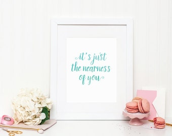 "Watercolor Art Print - ""It's Just the Nearness of You"" - Mirabelle Creations"