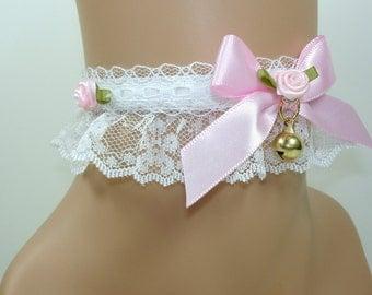 Cat Choker-Lolita Choker-Lolita Accessories-White Choker-Women Choker-Christmas Gift-Gift For Her-Harajuku-Hime