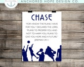 """Jeremiah 29:11 """"For I know the plans I have for you..."""" Basketball - Kids Room Print - Home Decor Print - PIY"""