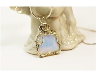 Opalite  Necklace / Opalite Jewelry / Wire Wrapped Jewelry