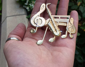 Baritone Saxophone Musical Notes Treble Clef French Hair Clip Barrette Jazz Orchestra Musician Instrument Sax Hairclip Accessory Jewelry
