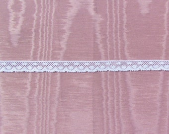 Vintage narrow lace edge trim, 25 yards of narrow lace