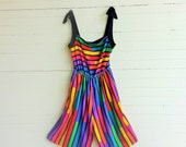 80s striped romper jumpsuit size medium / large