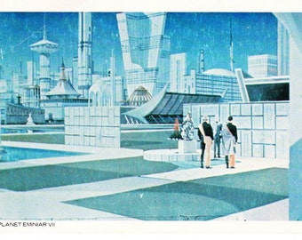 Vintage Star Trek The Original Series 1977 Postcard Depicting Surface Of Planet Eminiar VII From A Taste Of Armageddon - Paramount - Kirk