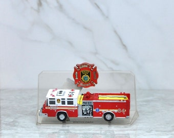 Vintage FireTruck, Code 3 Collectibles, Winter Park Fire Department, 1990s, Florida #64 Pierce Quantum Pumper, Limited Edition, Firefighters