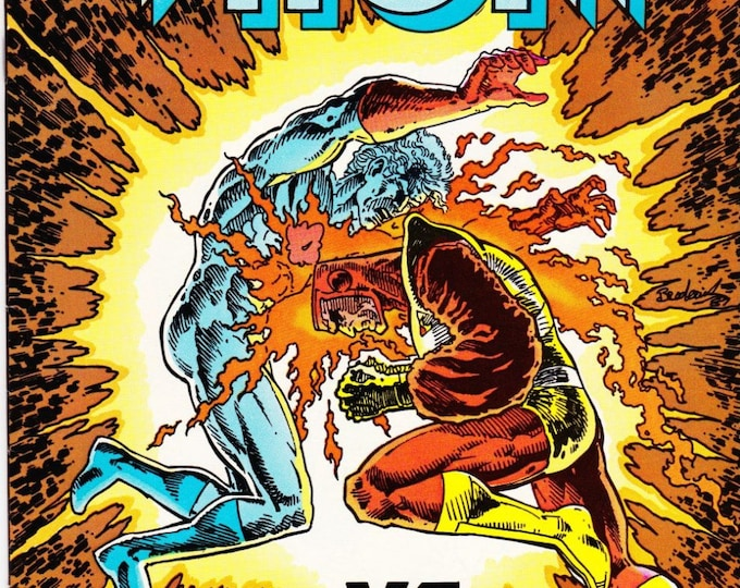 Vintage Comic Book Captain Atom Number 5 July 1987 DC Comics, Firestorm, Major Force, Slow Burn, Nathaniel Adam, Plastique, Dr Spectro
