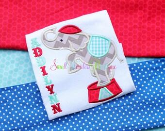 Circus Shirt - Circus Embroidered Shirt - Circus Birthday Shirt - Circus- Circus Tent - Girls Or Boys Circus Shirt - Elephant Shirt -Circus