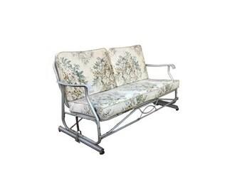 SALE Vintage Porch Glider - 1960's Vintage Patio Furniture, Vintage Mid Century Furniture, Slider Loveseat Outdoor Retro Porch Furniture