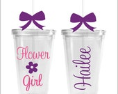 Flower Girl Tumbler Single Cup Wedding Party Tumbler Bridal Party Gift Flower Girl Gift Wedding Cup Wedding Tumbler Bridal Party Favor Girls