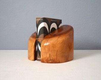 Vintage Don Shoemaker Mexican Modernist Mesquite Wood Bookends