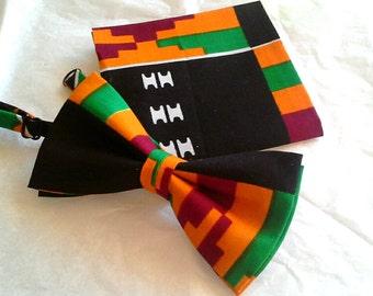 Kente bowtie african print bowtie kente cloth design african print bow tie