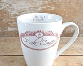 F*ck Cancer Mug, Large 14 oz Coffee Cup, Cancer Tea Cup, Teacup, Cancer Survivor Coffee Cup, Fuck Cancer, Big Tea Mug, Ready to Ship