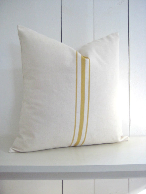 Modern Country Pillows : Modern Farmhouse Pillow/ French Country Pillow by WoodsandShore