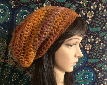 Slouch Beanie, Crochet Beanie, Up the Canyon Beanie, womens crochet beanie, slouch hat, slouchy hat, womens slouch hat, hippie beanie, boho