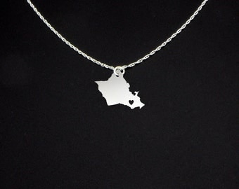 Oahu Necklace - Oahu Gift - Oahu Jewelry
