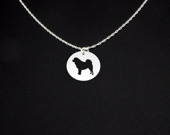 Mastiff Necklace- Long Hair - Mastiff Jewelry - Mastiff Gift