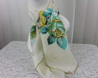 Vintage Scarf Rayon Japan New Old Stock