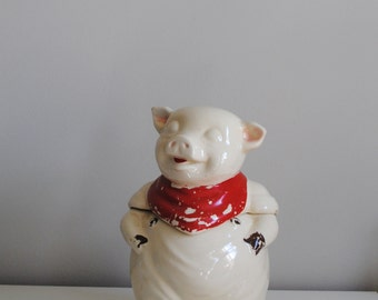 Vintage Shawnee Ceramic Smiling Pig Cookie Jar Kitchen