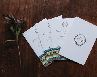 Custom Watercolor Wedding Programs