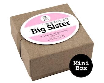 Mini Big Sister Box, Big Sister Activities, Sibling Gift, Sibling Party Favors, Big Sister Gift, Sibling Activities, Baby Shower Favors