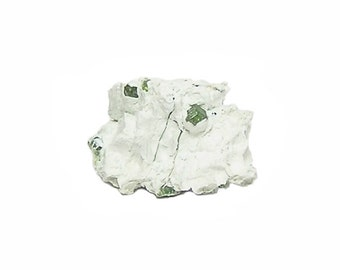 Mint Green Demantoid Garnet Gem Crystals in Snow White Matrix Quebec Geological Specimen for the Top Drawer of a rock and mineral collection