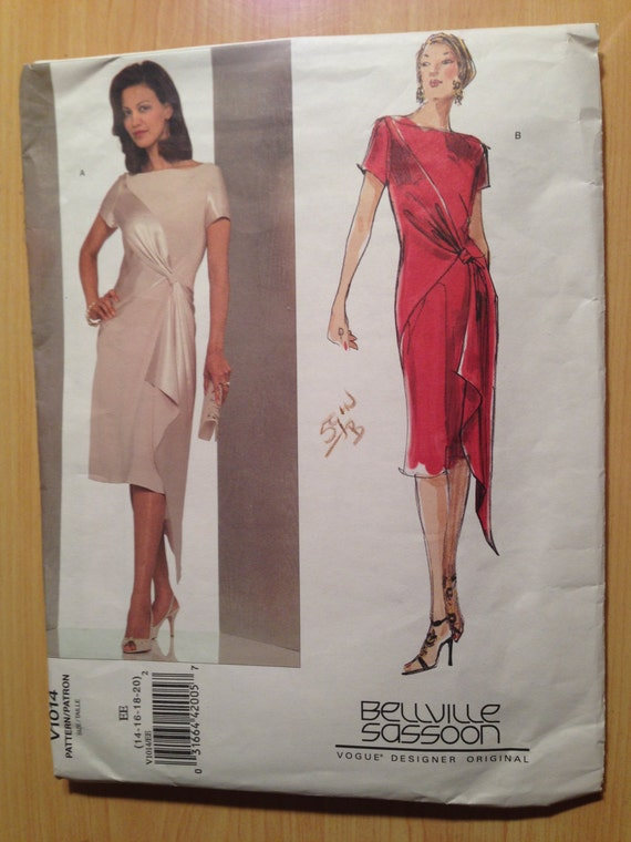 Vogue Sewing Pattern By Bellville Sassoon 1014 Misses Dress Size 14-20