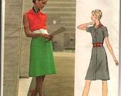 "1960's Vogue Couturier Design One-Piece Button-Up Mod Dress Pattern - UC/FF - Bust 32.5"" - No. 2708"