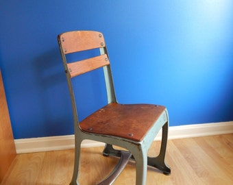 1940's Child Chair - Vintage Metal & Wood, Envoy