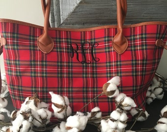 Red Tartan Plaid Tote/Bag