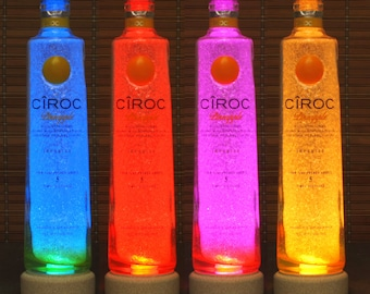 Ciroc Pineapple Vodka Color Changing RGB LED Remote Controlled Bottle Lamp Bar Light French Vodka