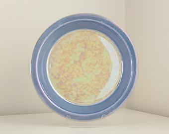 1920s Royal Rochester Lusterware Pie Plate in Peach & Lavender