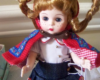 Red- ridinghood with long pigtails Madame Alexander doll