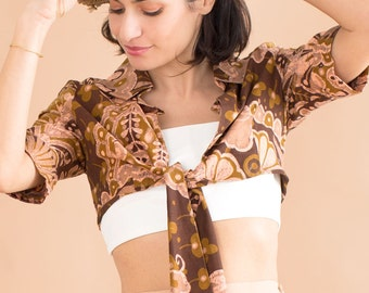 Cropped shirt // 80s // S/M size